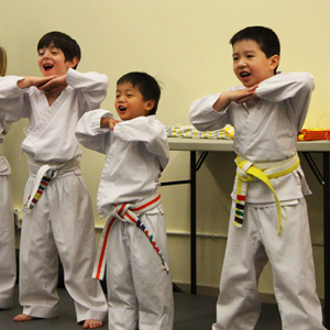 Karate forms teach patience